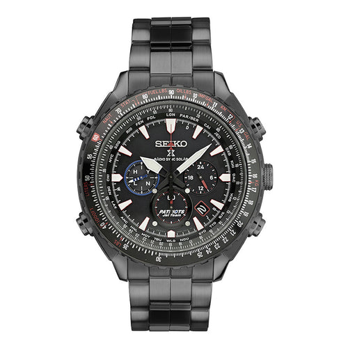 Seiko Prospex Men's PATRIOT JET TEAM Limited Edition Solar Watch SSG007 with metal band