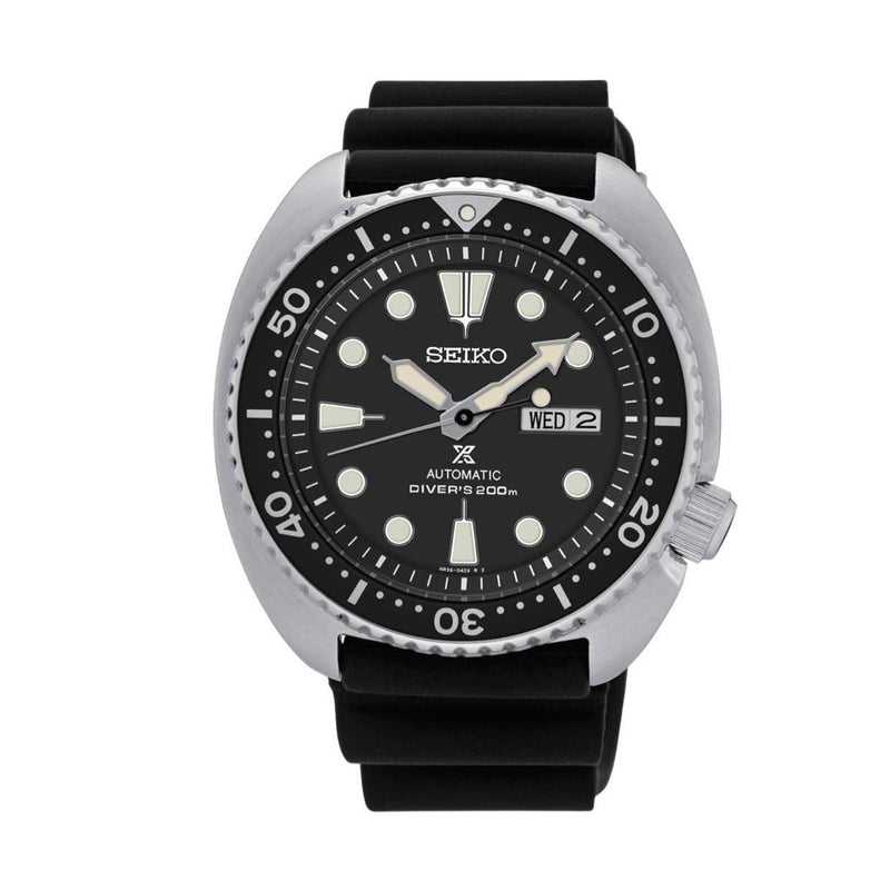Seiko Prospex Automatic Black Rubber Strap Men's Diver Watch SRP777
