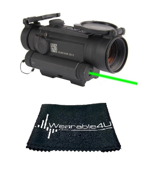 Holosun Dot/Shake Awake/Green Laser HS401G5 with included Wearable4U Lens Cleaning Towel Bundle