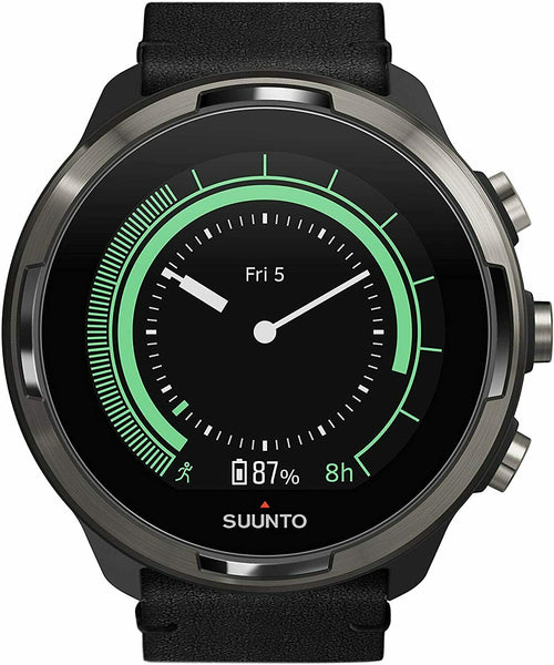 Suunto 9 G1 BARO TITANIUM LEATHER GPS Sports Watch with Long Battery Life
