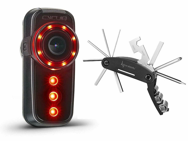 Cycliq Fly6 Gen 2 Integrated Rear-Facing Bike Camera and Included Wearable4U Multitool Bundle