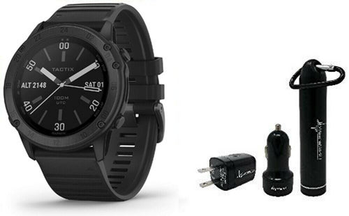 Garmin tactix Delta Premium GPS Smartwatch with Wearable4U Power Pack Bundle