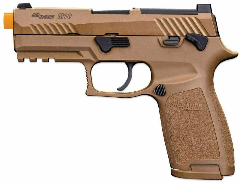 Sig Sauer AIRSOFT, PROFORCE, M18, 6MM, SEMI, GREEN GAS, FIXED WHITE DOT SIGHTS, CYT POLYMER, 20RD MAG