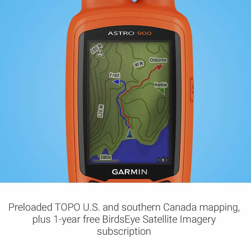 Garmin Astro 900 GPS Dog Tracking Bundle w/ Handheld & Dog Device, 010-02053-00