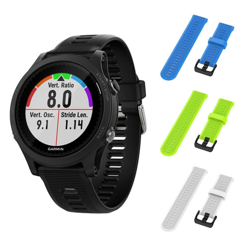 Garmin Forerunner 945 GPS Running Smartwatch with Included Wearable4U 3 Straps (SkyBlue/Lime/White)