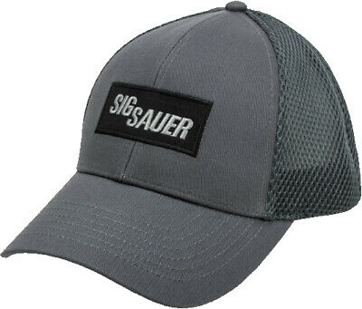 Sig Sauer Leather Patch Trucker Hat