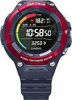 "Casio""Pro Trek"" Outdoor Heart-Rate Monitor GPS Sports Watch (Model WSD-F21HR-BKAGU) (RED)"