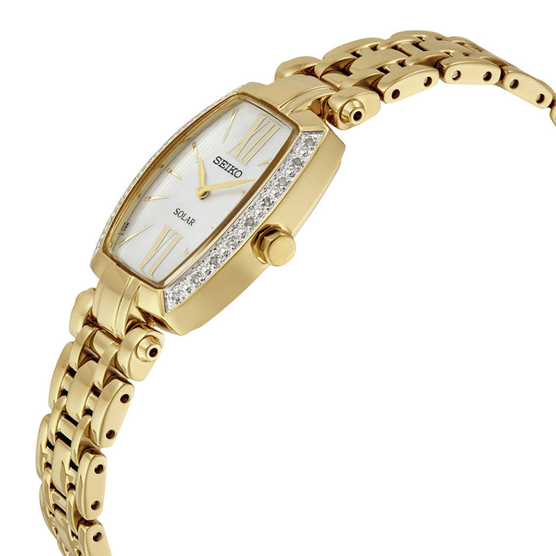 Seiko Tressia Women's Analog Display Japanese Quartz Watch SUP286 gold color