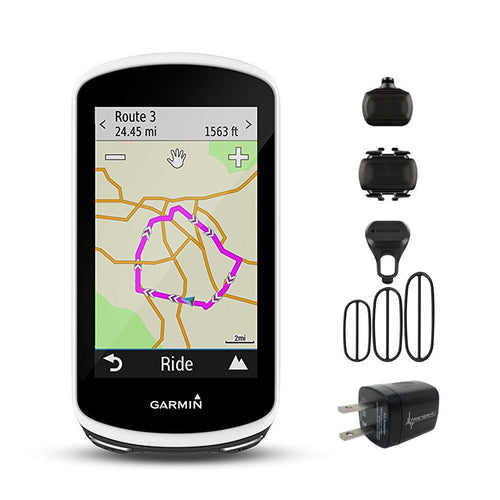 Garmin Edge 1030 010-01758-00 and Garmin Speed and Cadence Sensor 010-12104-00