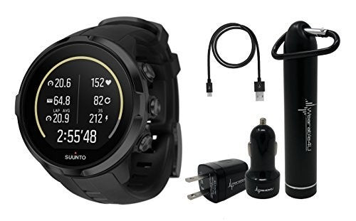 Suunto Spartan Sport Wrist HR Multisport GPS Watch with Color Touch Screen and Wearable4U Ultimate Power Pack Bundle