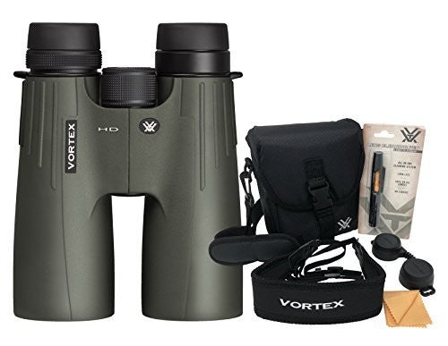 Vortex Viper HD 10x50 Roof Prism Binocular with Original Vortex Accessories Bundle
