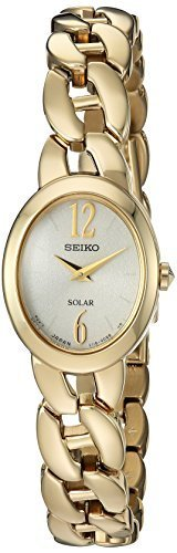 Seiko Women's Solar Goldtone Watch With Champagne Dial