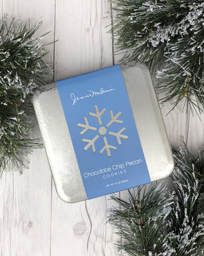Holiday Snowflake Tin - Chocolate Chip Pecan