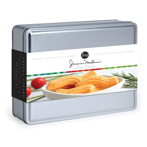 15 Oz -3 Flavor Cheese Straw Tin