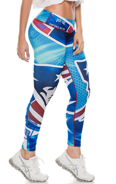 New England Patriots Printed Leggings - SUPER BOWL CHAMPION SPECIAL!