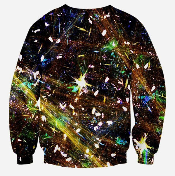 Abstract Lion Printed Sweater