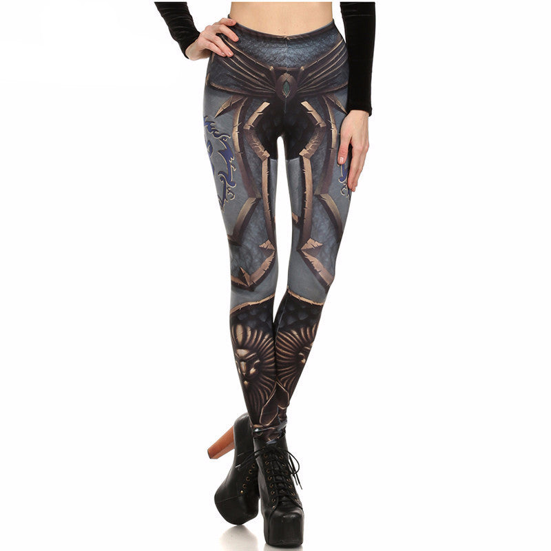 WoW Alliance Armor Printed Leggings