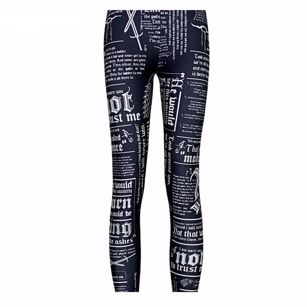Newsprint Leggings