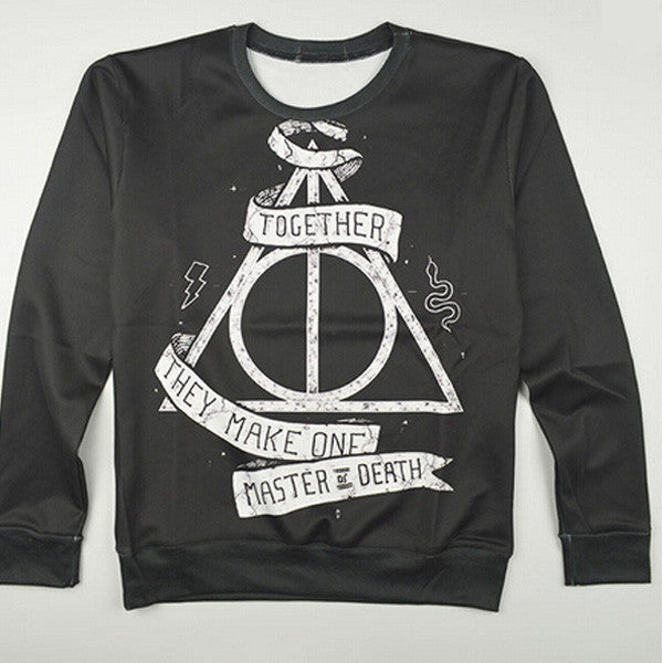 Deathly Hallows Printed Sweater