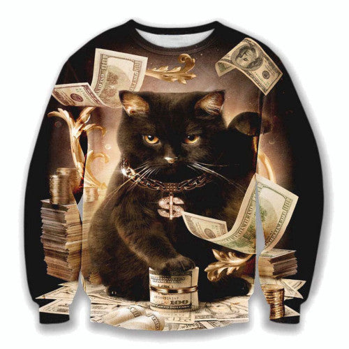 Bo$$ Kitty Printed Sweater