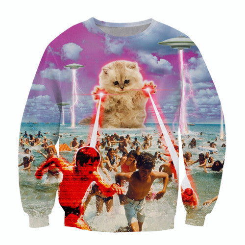 Laser Paws Printed Sweater