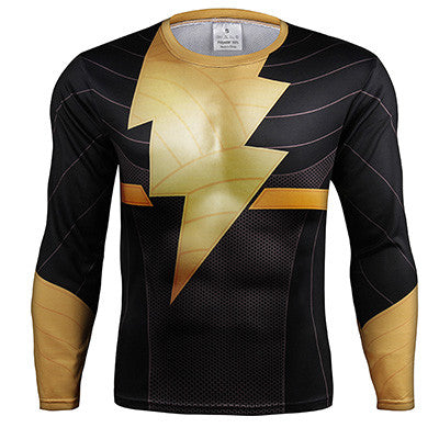 Black Adam Long Sleeve Compression Shirt