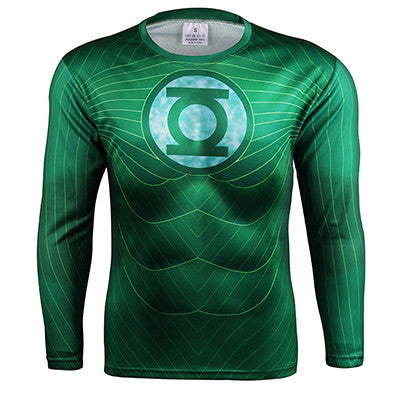 Green Lantern Long Sleeve Compression Shirt