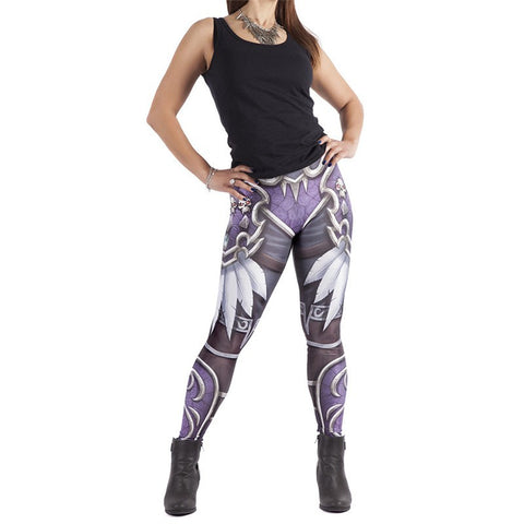 Sylvanas Windrunner Warcraft Printed Leggings