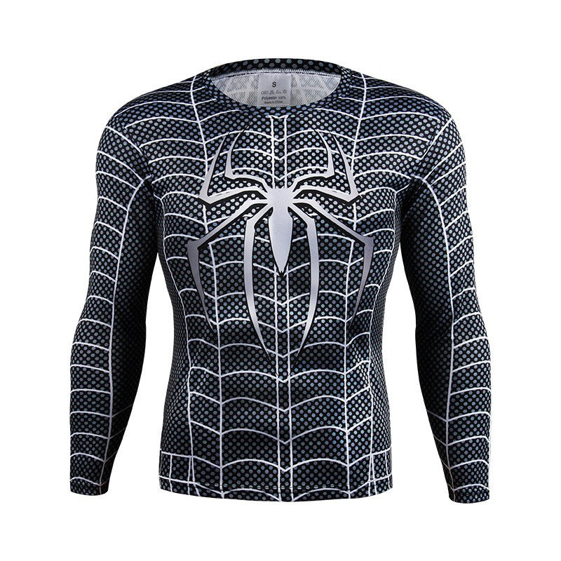Symbiote Spiderman Long Sleeve Compression Shirt