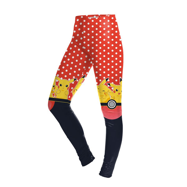 Knee-High Pikachu Pokemon Printed Leggings