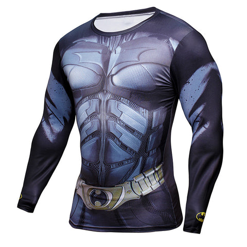 Batman Long Sleeve Compression Shirt