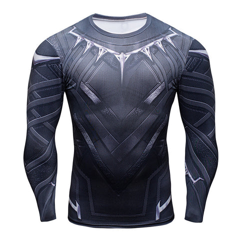 Black Panther Long Sleeve Compression Shirt