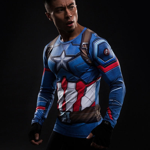 The First Avenger Long Sleeve Compression Shirt