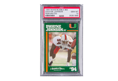 The Rock's University of Miami Football Card Hits the Auction Block Again, Sells for $81K USD