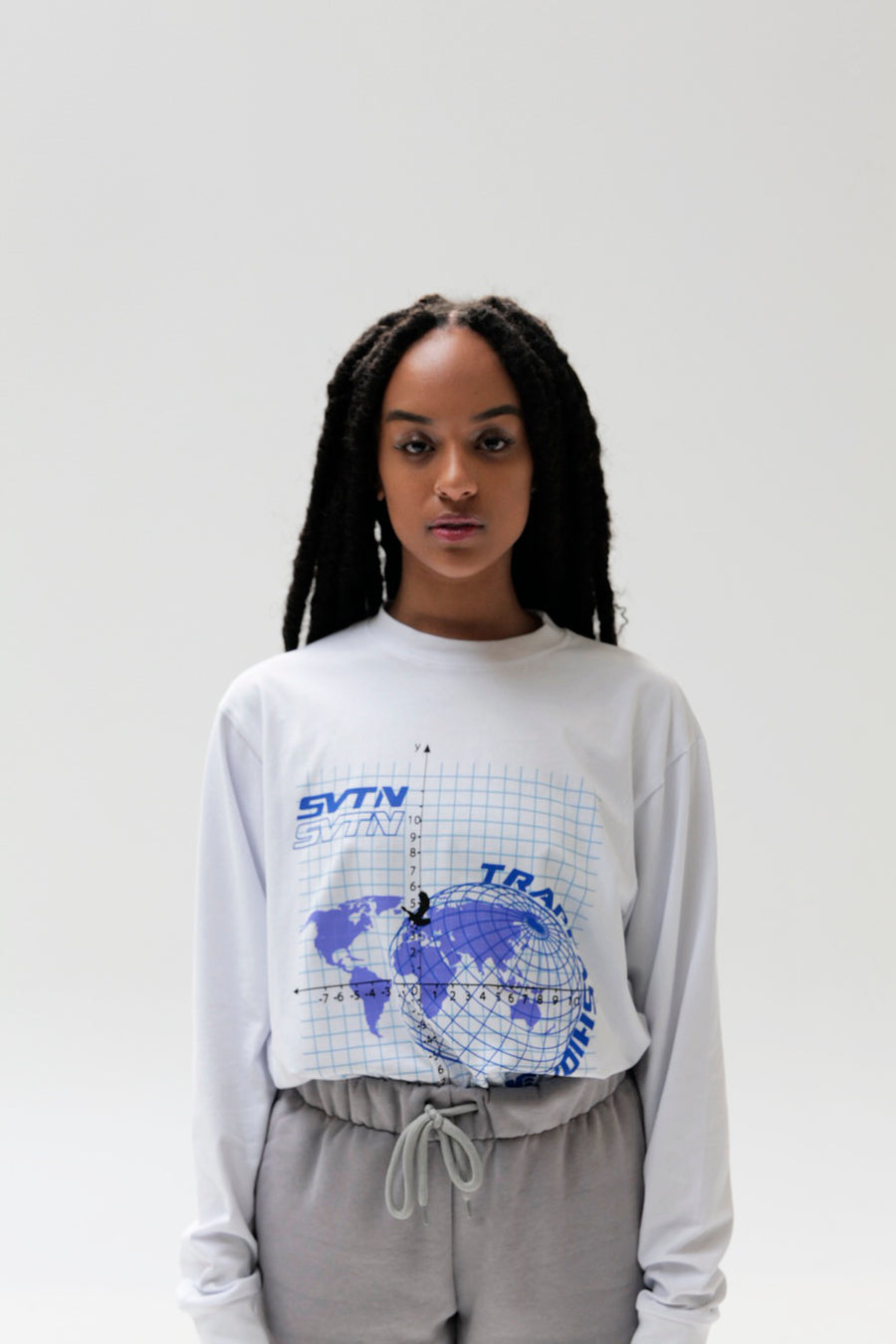 White Trapfashion printed long sleeve