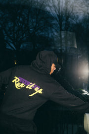 Black Run It Up Hoodie