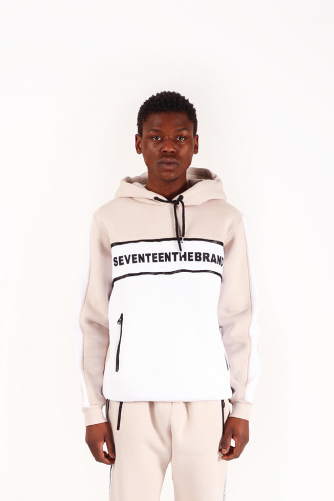 Grey White Embroidered Seventeenthebrand Hoodie Unisex