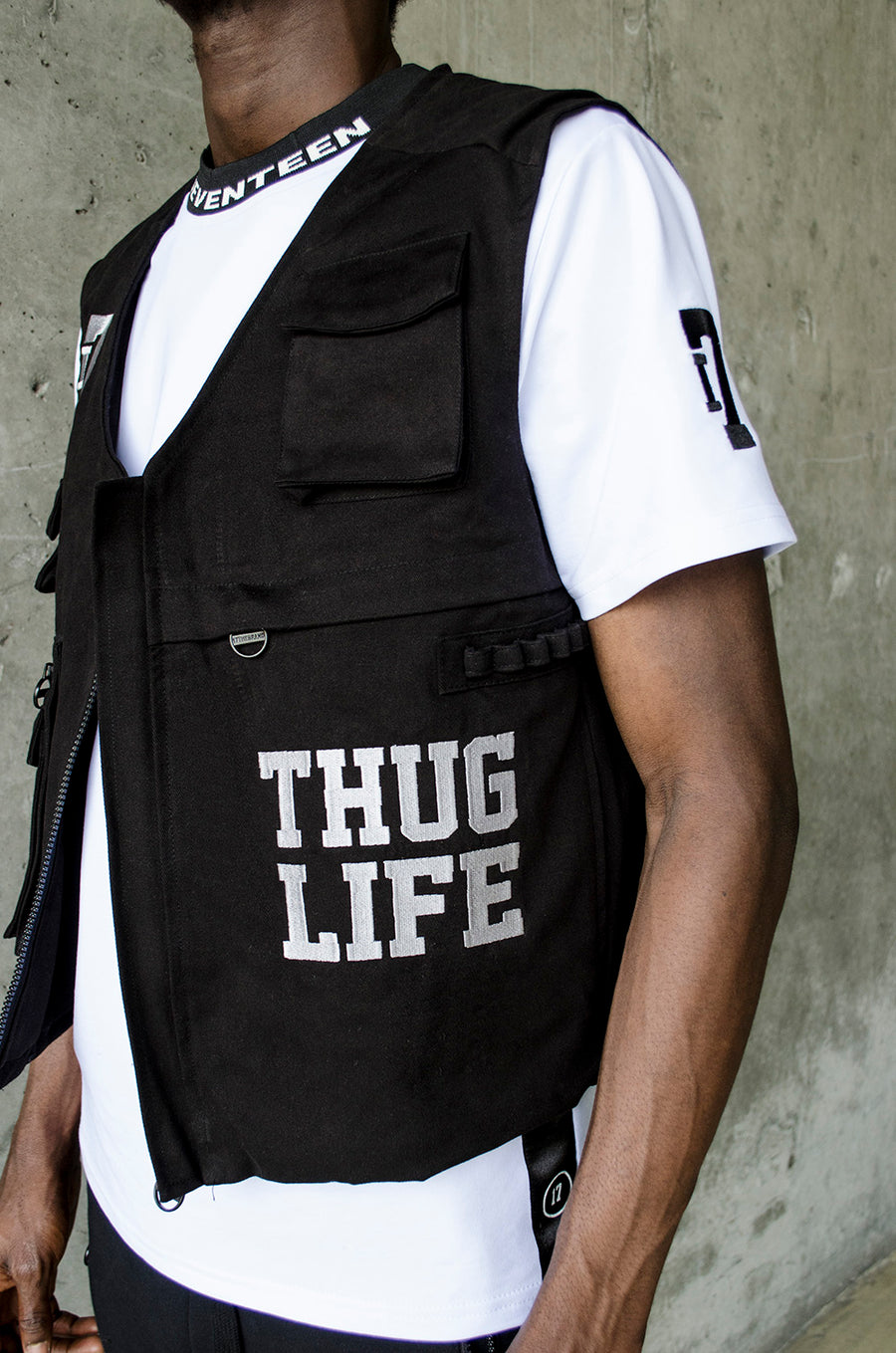 THE RE-UP// Bullet proof Thug Life vest