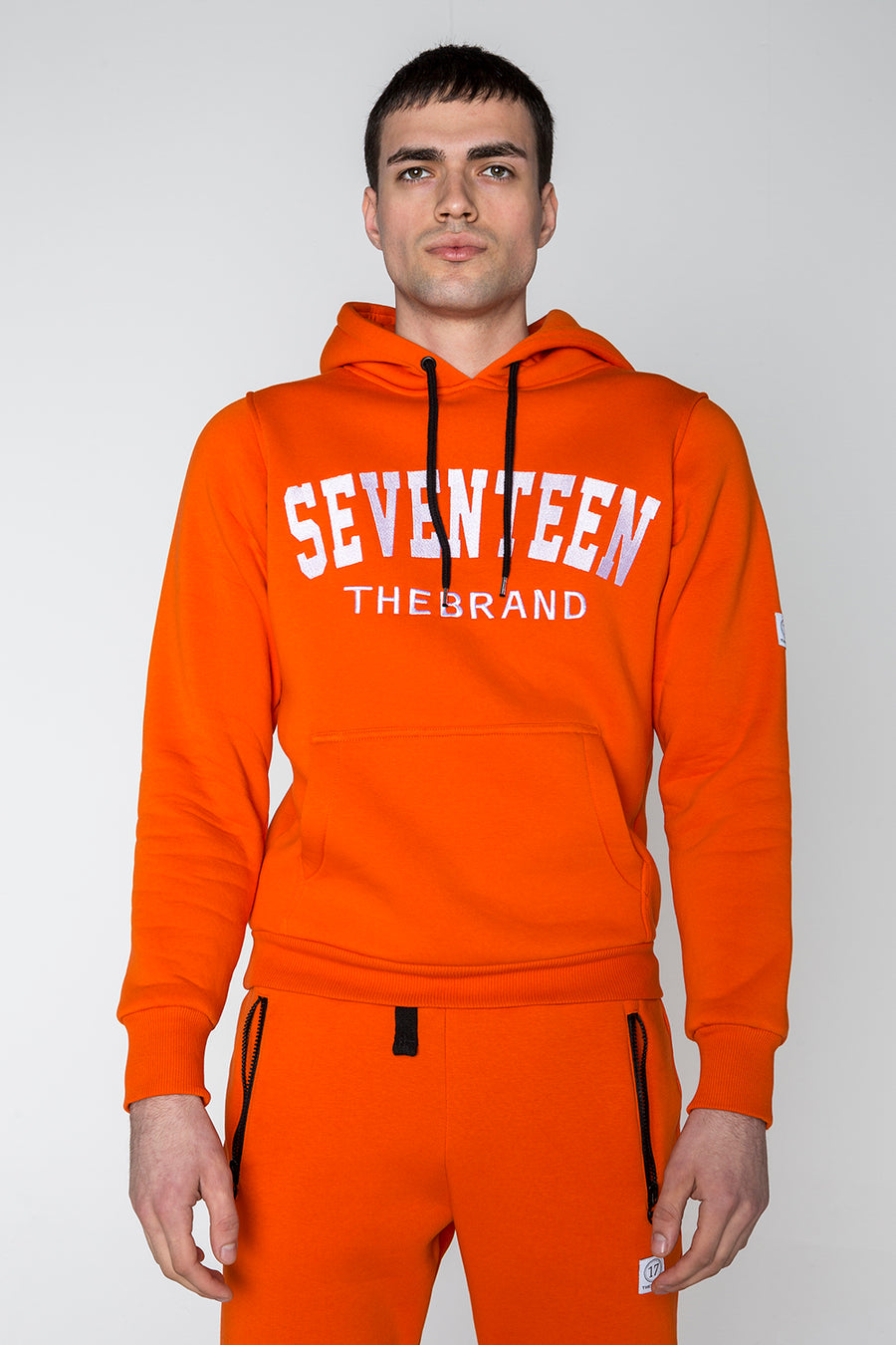 Seventeenthebrand Embroidery Hoodie Orange - Unisex