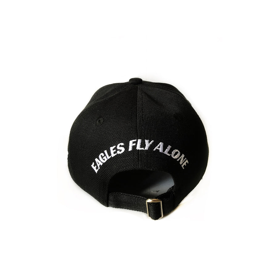 Black cap with embroidery logo's