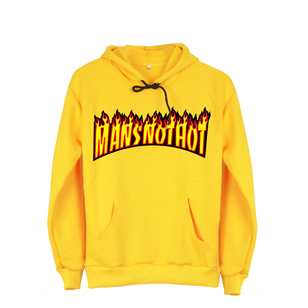 Mansnothot Yellow Hoodie