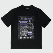 Black Trapfashion T-Shirt with purple print