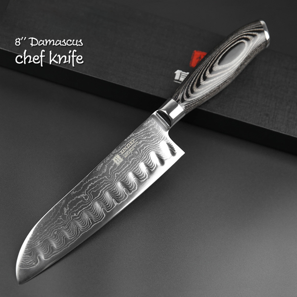 Good ... Damascus Steel Santoku Knife · Damascus Steel Chef Knife