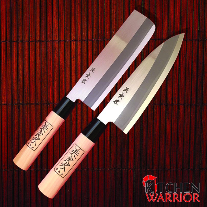 Japanese Kitchen Knife Set - 2 Piece - Shimomura – Kitchen Warrior USA