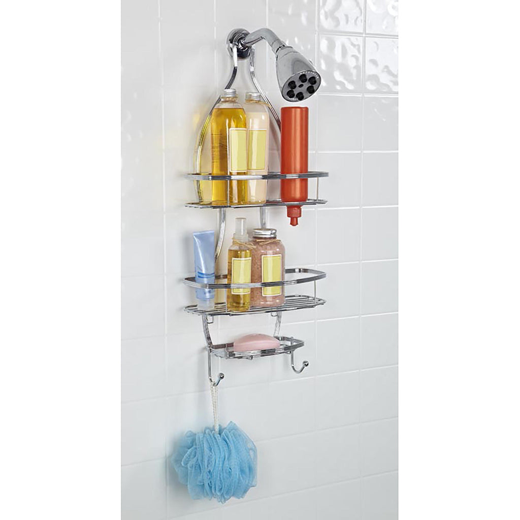 Bath Bliss Triple Wire Shower Caddy in Glossy Chrome – SPACE WITH TASTE