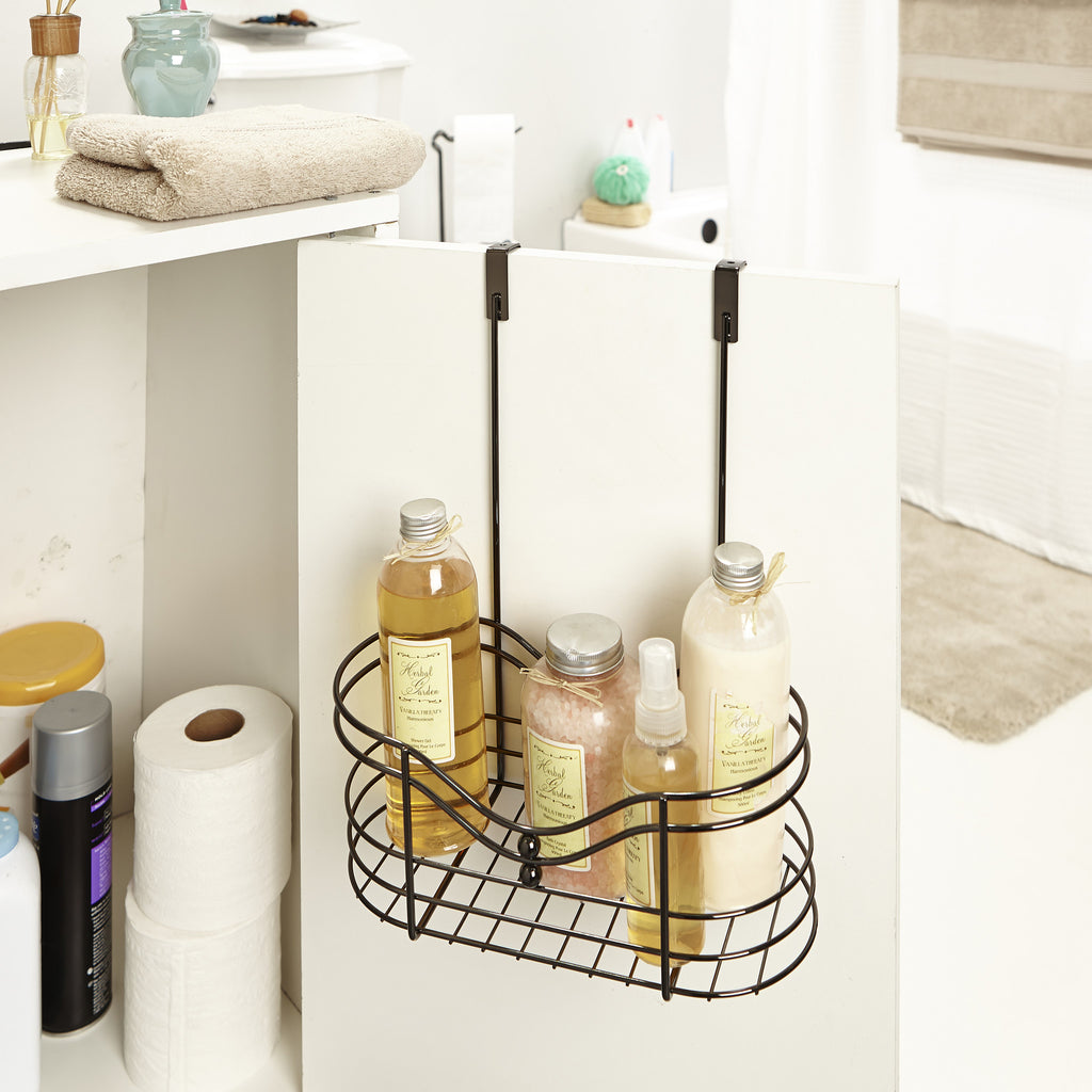 Bath Bliss Over the Cabinet Organizer in Black Onyx – SPACE WITH TASTE