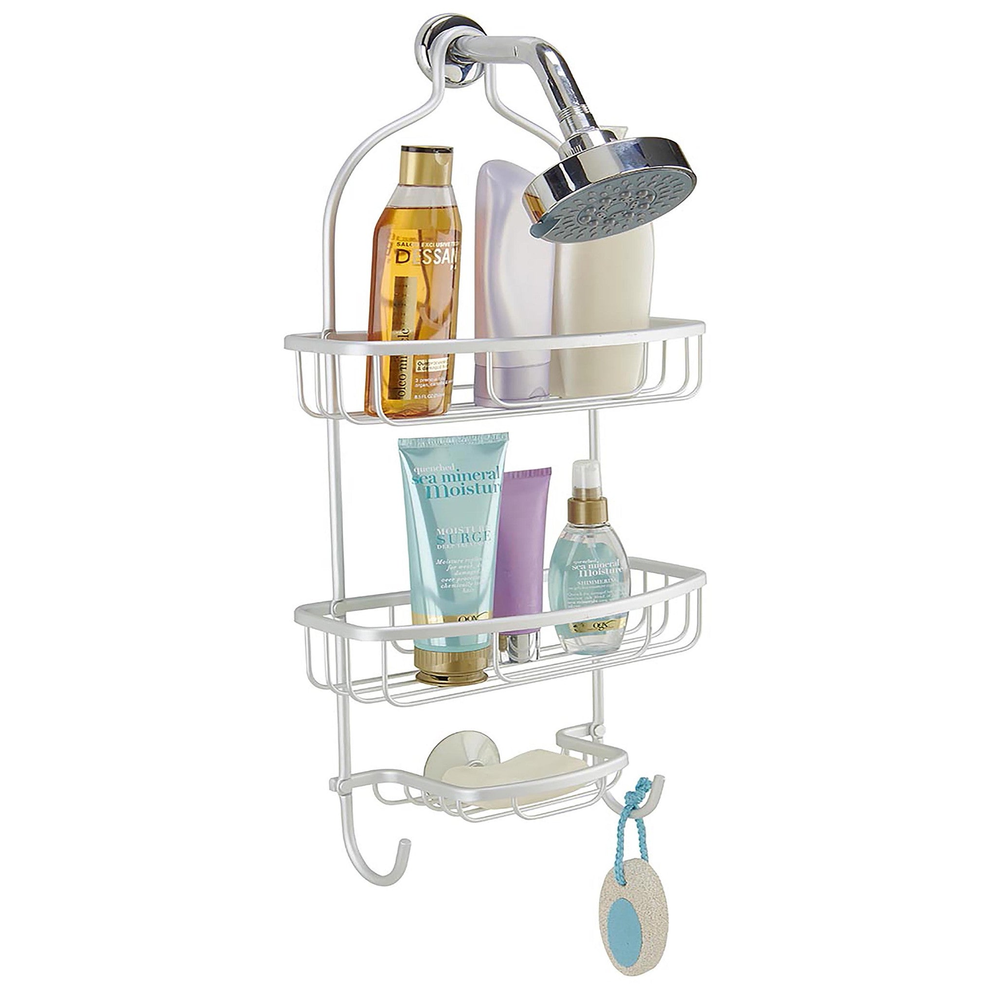 Bath Bliss Flat Wire Shower Caddy In Aluminum – SPACE WITH TASTE
