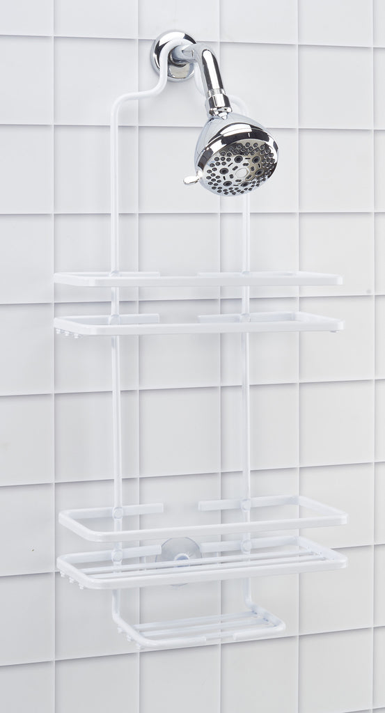 Bath Bliss Aluminum Shower Caddy in White – SPACE WITH TASTE