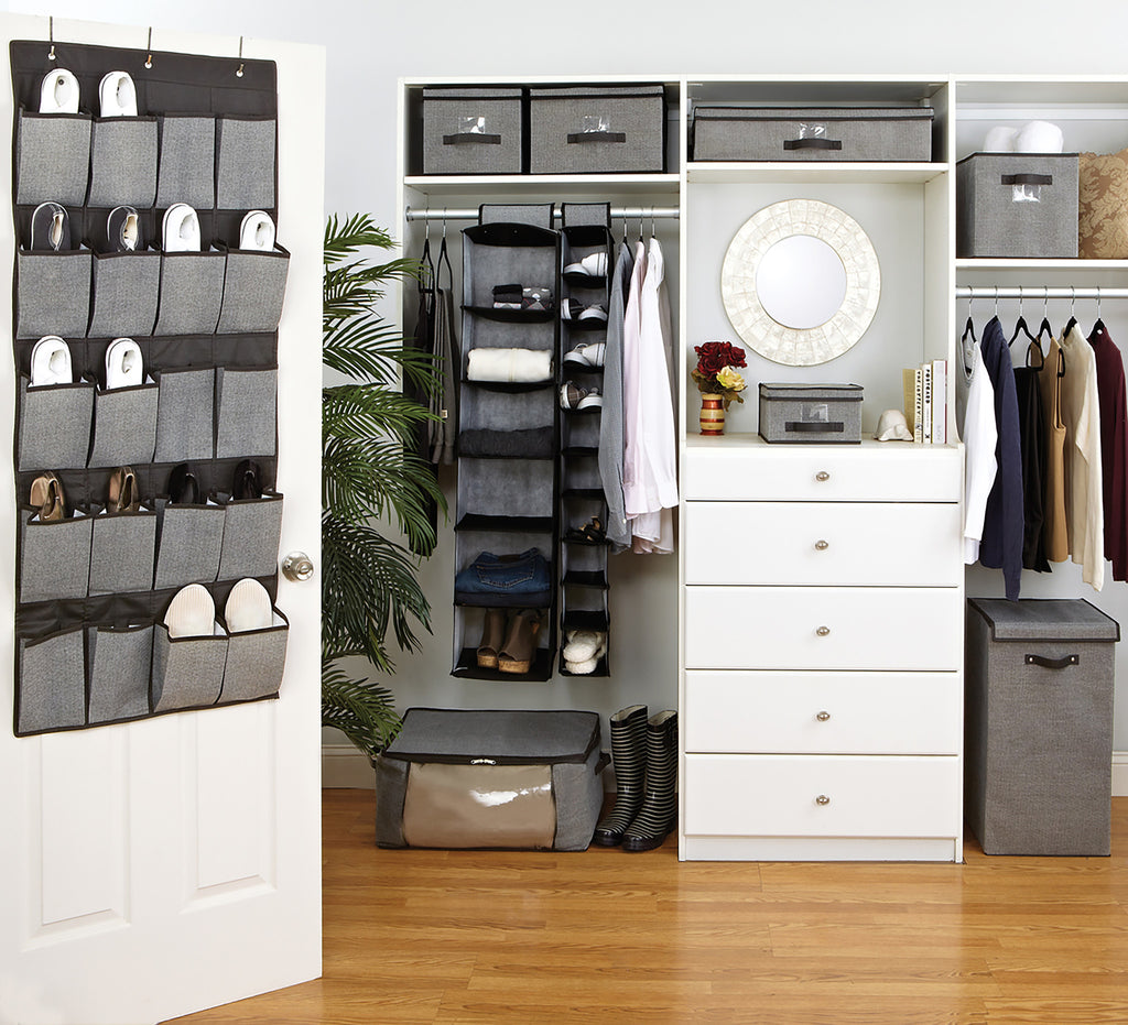 Simplify 6 Shelf Closet Organizer In Black