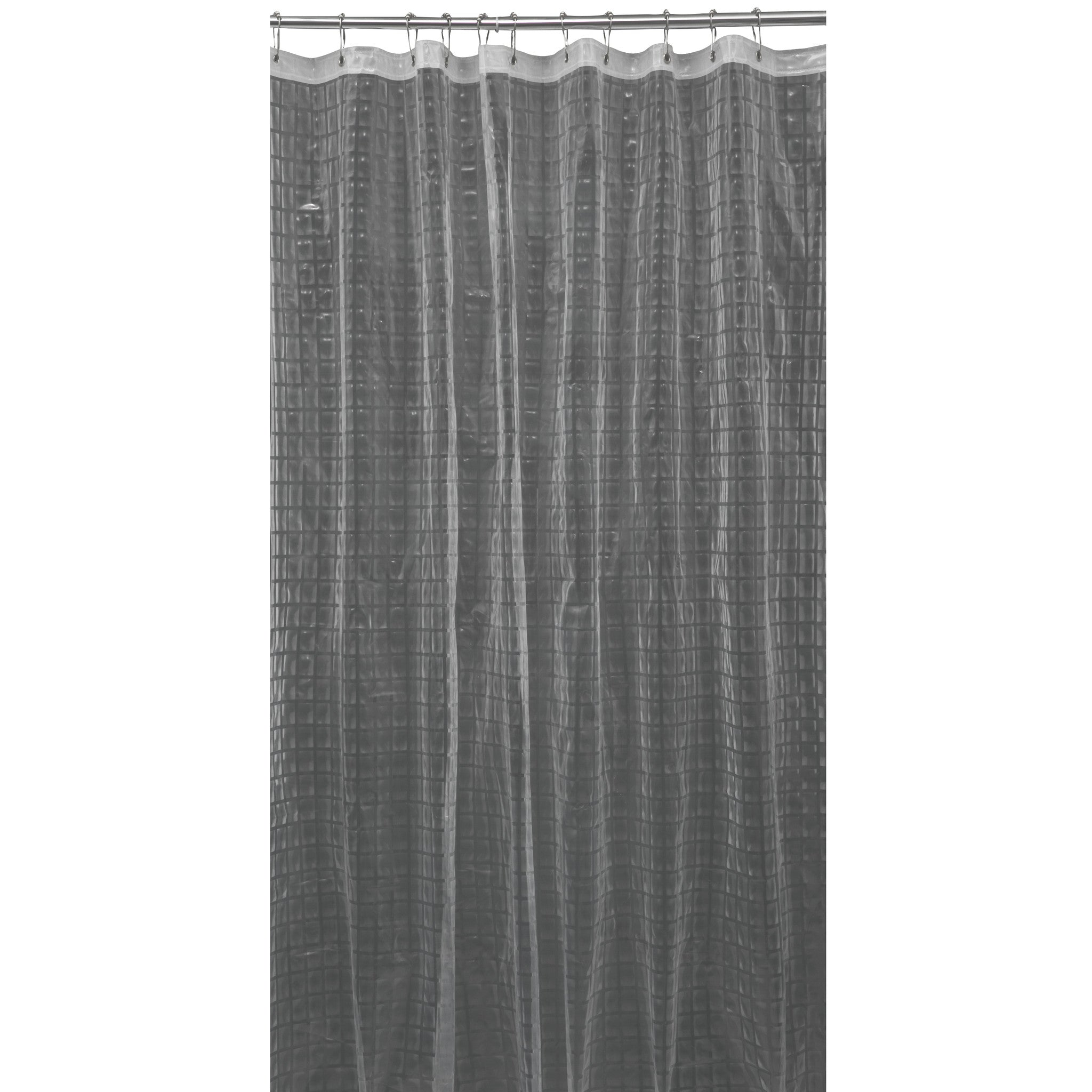 Bath Bliss 3D Octagon Design Shower Curtain In Grey